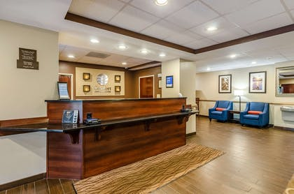 Front desk with friendly staff | Comfort Inn & Suites Christiansburg I-81