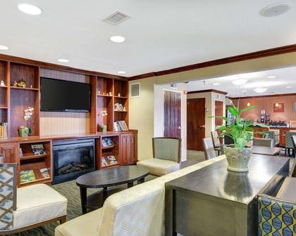 Lobby with fireplace | Comfort Inn & Suites Airport Dulles-Gateway