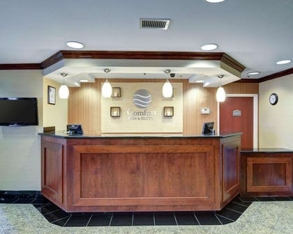 Front desk with friendly staff | Comfort Inn & Suites Airport Dulles-Gateway