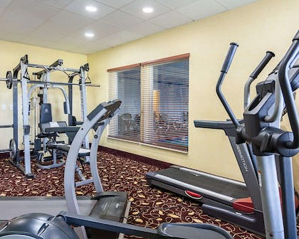 Fitness center with cardio equipment | Comfort Inn & Suites Chesapeake - Portsmouth