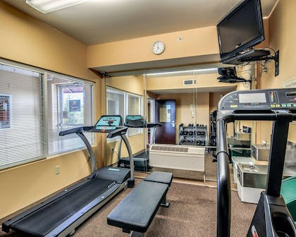 Fitness center with cardio equipment and weights | Comfort Inn Hillsville I-77
