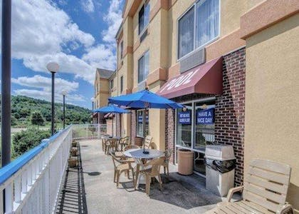Relax on the hotel patio | Comfort Inn Hillsville I-77