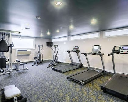 Exercise room with cardio equipment   Quality Inn & Suites Williamsburg Central
