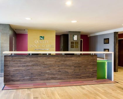 Front desk with friendly staff | Quality Inn & Suites Ashland near Kings Dominion