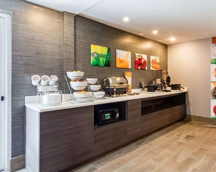 Breakfast counter | Quality Inn & Suites Ashland near Kings Dominion