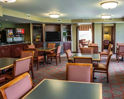 Enjoy breakfast in this seating area | The Virginian Suites, an Ascend Hotel Collection Member