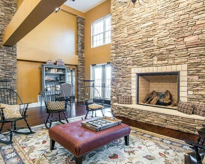 Lobby with fireplace | Bluegreen Shenandoah Crossing, Ascend Resort Collection
