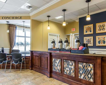 Enjoy coffee in the lobby   Bluegreen Parkside Williamsburg Ascend Resort Collection