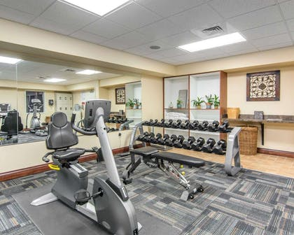 Fitness center with cardio equipment and weights | Bluegreen Vacations Patrick Henry Square, Ascend Resort
