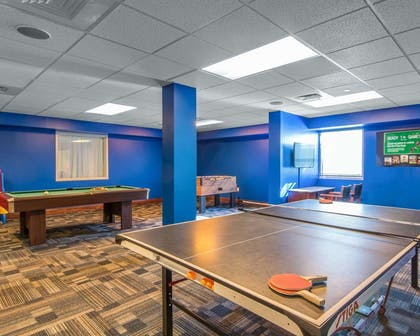 Game room with pool tables | Bluegreen Vacations Patrick Henry Square, Ascend Resort