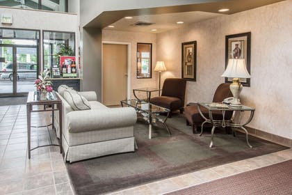 Spacious lobby with sitting area | Quality Inn Conference Center