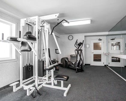 Exercise room with cardio equipment and weights | Comfort Inn Bellingham
