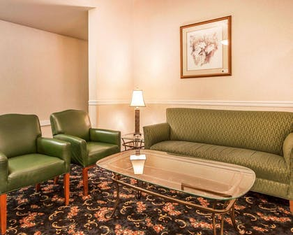 Spacious lobby with sitting area | Comfort Inn Conference Center Tumwater - Olympia