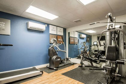 Fitness center with cardio equipment and weights | Comfort Suites Appleton Airport