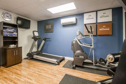 Fitness center with television | Comfort Suites Appleton Airport