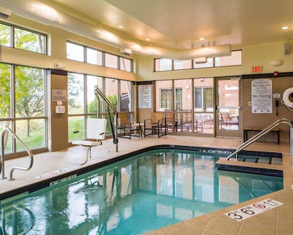 The Refresh area offers a resort-style pool and spa | Cambria Hotel Madison East