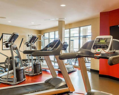 The Refresh area offers a state-of-the-art fitness center | Cambria Hotel Madison East