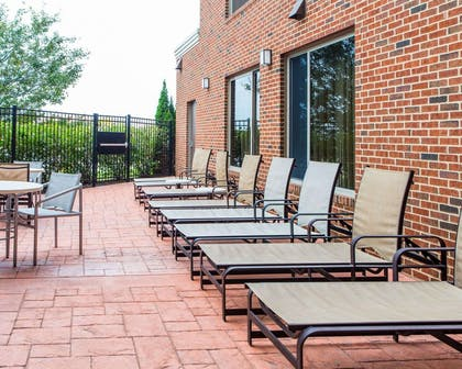 Relaxing patio area   Cambria Hotel Madison East