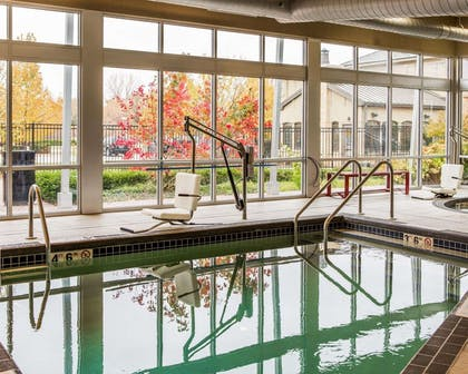 The Refresh area offers a resort-style pool and spa | Cambria Hotel Appleton