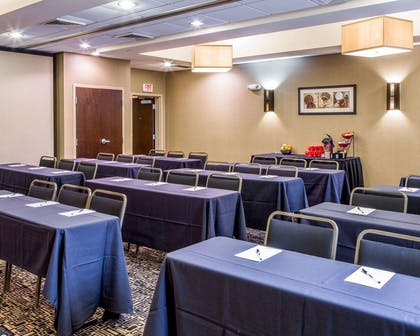 Meeting room with classroom-style setup | Cambria Hotel Appleton