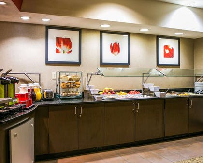 The breakfast buffet offers everything from fresh vegetable frittata to toasted granola with wild berries. Belgian waffles, eggs and more are made-to-order. | Cambria Hotel Appleton