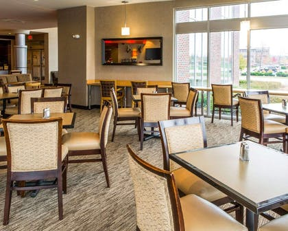 Enjoy breakfast in this seating area | Cambria Hotel Appleton