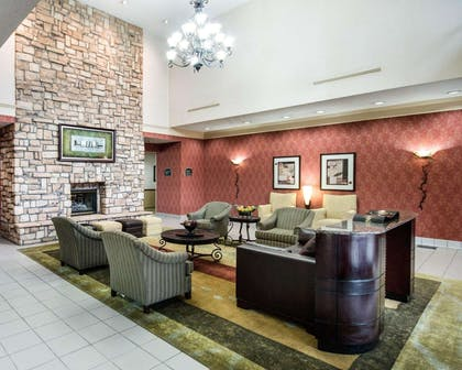 Spacious lobby with sitting area | Comfort Suites Parkersburg South