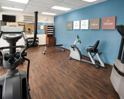 Fitness center with cardio equipment | Comfort Suites Parkersburg South