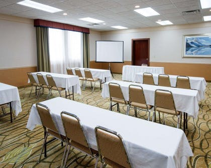 Meeting room with classroom-style setup | Comfort Suites Parkersburg South