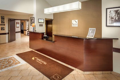 Front desk with friendly staff | Sleep Inn & Suites Cross Lanes - South Charleston