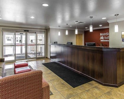 Spacious lobby with sitting area | Mainstay Suites Casper