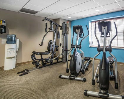 Fitness center with cardio equipment | Mainstay Suites Casper