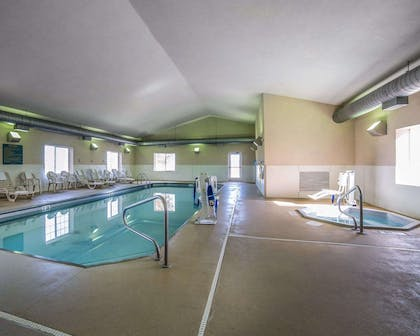 Indoor heated pool with hot tub | Mainstay Suites Casper