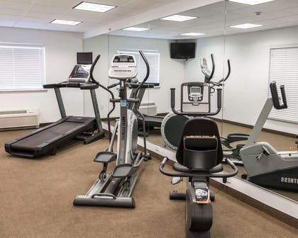 Exercise room with television | Sleep Inn And Suites Colby