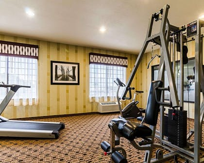 Exercise room with cardio equipment | Comfort Inn & Suites Lawrence - University Area
