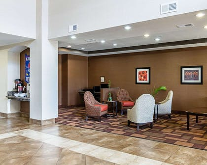 Lobby with sitting area | Comfort Inn & Suites Lawrence - University Area