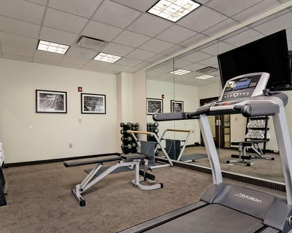 Fitness center with cardio equipment | Sleep Inn & Suites Fort Scott