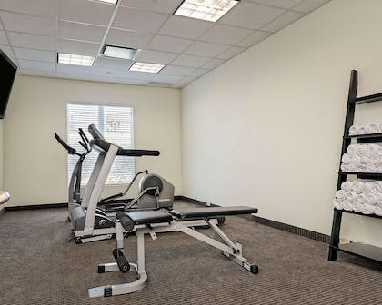 Fitness center with television | Sleep Inn & Suites Fort Scott
