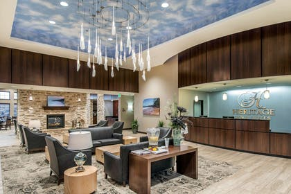 Hotel lobby | The Heritage Inn & Suites, an Ascend Hotel Collection Member