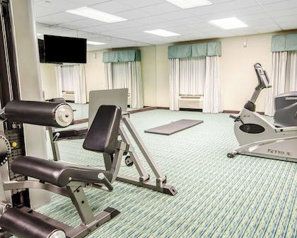 Fitness center with cardio equipment and weights | Comfort Inn Shepherdsville - Louisville South