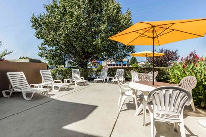 Relax on the patio | Quality Suites