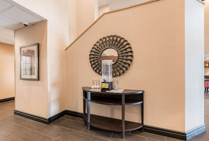 Refreshment stand in lobby | Comfort Suites