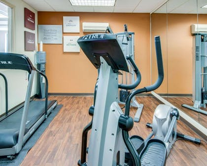 Fitness center with cardio equipment | Comfort Suites Shreveport