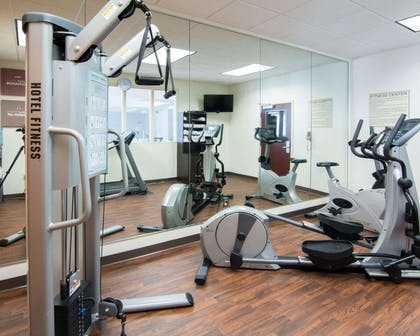 Fitness center with television | Comfort Suites Shreveport