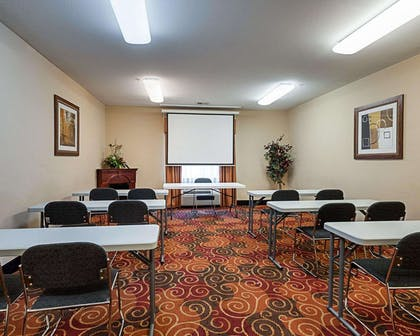 Meeting room with theater-style setup | Comfort Suites Lake Charles