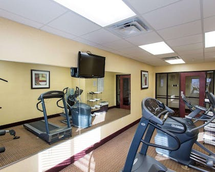 Fitness center with television | Comfort Inn New Orleans Airport