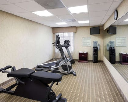 Fitness center with television | MainStay Suites Houma
