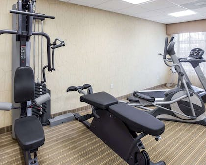 Fitness center with cardio equipment | MainStay Suites Houma