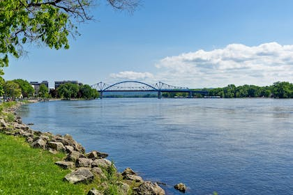 The Mississippi River Steps from the Hotel. | GrandStay Hotel & Suites