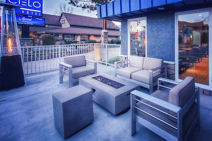 Relax on the patio | Cielo Hotel Bishop-Mammoth, an Ascend Hotel Collection Member